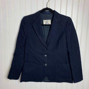 Burberry |Vintage| Wool Blue Blazer Size S